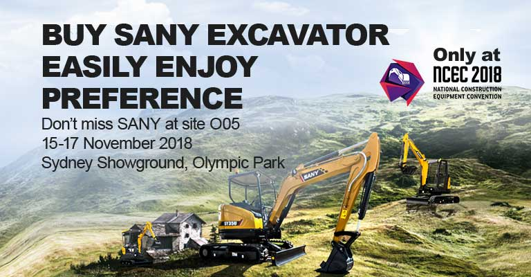 SANY is waiting for you at the NCEC 2018